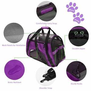 Dog Carrier Bag Messenger Travel Cat Puppy Soft Airline Shoulder Sling Portable
