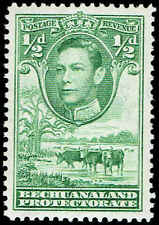 Scott # 124 - 1938 - ' George VI, Cattle and Baobab Tree '