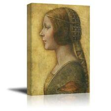 "Portrait of a Young Fianc¨¦e by Leonardo da Vinci - Canvas Print - 24"" x 36"""
