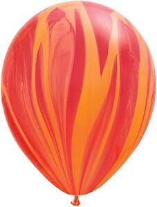 """5 pc - 11"""" Colorful Agate Latex Balloons Party Decoration Tie-Dye Baby Birthday"""