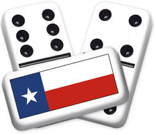 Texana Series Texas Flag Design Double six Professional size Dominoes