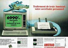 Publicité Advertising 067  1986  Amstrad ( 2 pages) imprimante traitement texte