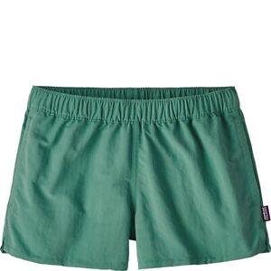 NWT PATAGONIA Women's BARELY BAGGIES Nylon Shorts Beryl Green Sz Small