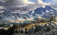 Snowy Mountains Scene Oil painting Picture HD printed on canvas L189