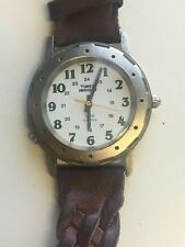 Working Ladies Brushed Silver Diver Style Timex Watch With Working Backlight  BK