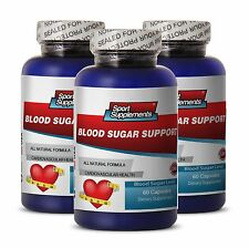 Blood Sugar Support. Dietary Supplement. Cardiovascular Health (3 Bottles)