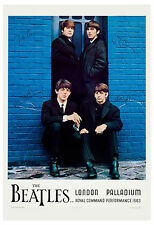 1960's The Beatles *London Palladium* Command Performance Concert Poster 1964