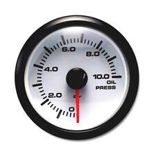 52 mm Waterproof Auto Oil Pressure Gauge 270 Degree White / Green LED BAR