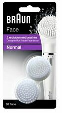 2 Pack BRAUN REPLACEMENT FACE BRUSHES NORMAL #80 FOR BRAUN FACE BRUSH DL 1045