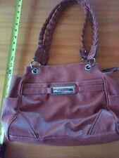 Used Rosetti Purse Handbag Braided Handles BROWN