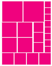 42 HOT PINK SQUARE VINYL WALL DECAL STICKER GIRL BEDROOM Teen Baby Nursery Dorm