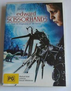 Edward Scissorhands Johnny Depp PAL DVD R4 VGC