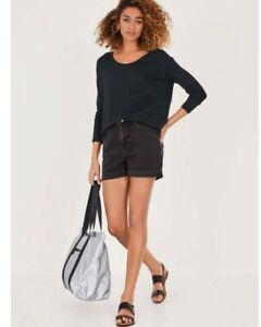 Hush NEW Womens Black Washed Denim Shorts Sizes 8 to 16