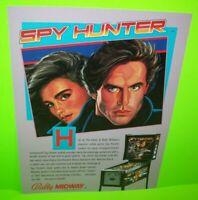Spy Hunter Pinball FLYER Original Bally 1984 NOS Promo Game Artwork Sales Sheet