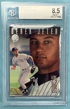 Derek Jeter 1996 Leaf Studio #33 Rookie Beckett BGS 8.5 NM Mint + Yankees