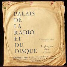Pochette Cover Sleeve 78 trs Palais de la radio et du disque Paris, Italiens EX