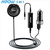 Mpow 3 in 1 Bluetooth Receiver Car Kits Charger Aux Adapter For Home TV Audio