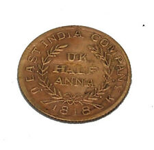 1818 EAST INDIA COMPANY BAJRANGBALI HALF ANNA COIN ANTIQUE