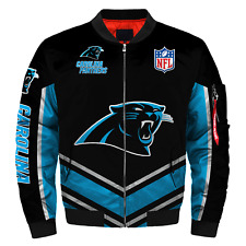 Carolina Panthers Jacket MA1 Flight Bomber Thicken Coat Men's Football Outwear