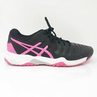 Asics Mens Gel Resolution 7 C700Y Black Pink Running Shoes Lace Up Size 7