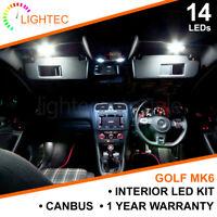 VW GOLF MK6 INTERIOR LIGHTING UPGRADE KIT XENON WHITE LED BULB SET PUDDLE MIRROR