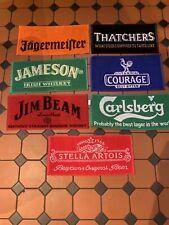 More details for home bar/pub bar beer towels set of 7 stella artois, carlsberg, jameson's etc