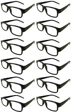 Reading Glasses [+2.50] 24 Black Plastic Frame  Wholesale Lot Reader Unisex 2.50