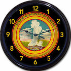 """Bozeman MT Beer Tray Wall Clock Gallatin Brewing Co Ale Lager New 10"""""""