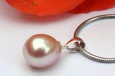 p006r perles d'eau douce bijoux pendentif sans collier de argent 925