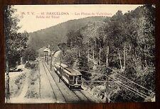 Railway Las Planas de Vallvidrera. Salida del Tunel BARCELONA SPAIN postcard