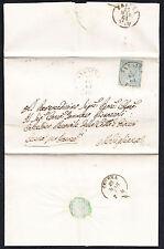 STORIA POSTALE Regno 1864 Piego 15c da Sarsina per Modigliana (FB5)