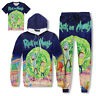 Mens Jogger Tracksuit Womens Jogging Training Set Rick and Morty Printed Hip-hop
