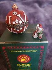 Boyds Bears Treasure Box Joy's Christmas Ornament 1st Edition