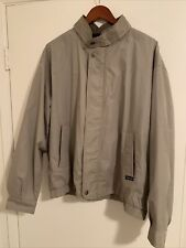 New listing Members Only Vintage Mariner Bomber Jacket Beige/Tan Size Large Lined Brown Exc