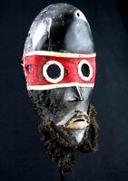 """Art African Arts Tribal - Mask Dan """" Zakpeï """" - Wood & Felt - 26 CMS"""