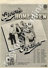 Brown's Home Brew Together 6360 114 Hull University MM4 LP/Tour Advert 1974