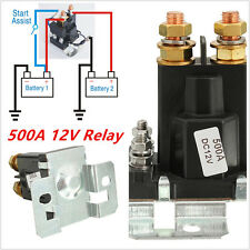 4 Pin Over 500A AMP 12V DC Relay On/Off Car Auto Power Switch Plastic Black New