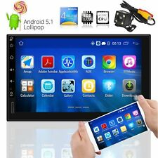 "Android 5.1 Quad Core Double 2 Din 7"" Car Stereo GPS Radio MP5 Player BT 3G Wifi"