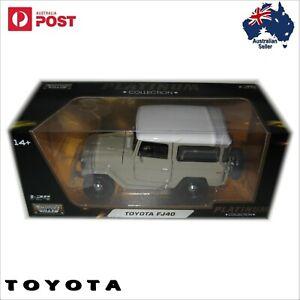 Beige FJ40 Toyota Land Cruiser Scale 1:24 Diecast Model 4WD Landcruiser 4wd 1976