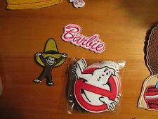 Iron on embroidered applique- Choice of one-Barbie, Curious George or ghost bust