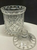 Gorham Crystal KING EDWARD Biscuit Jar w/ Lid Great Condition Discontinued