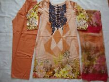 Baroque Lawn Embroidered stitched Pakistani indian salwar kameez CLEARANCE  £20
