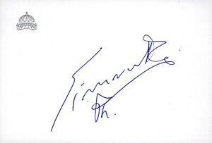 Handsigniertes Autogramm Simeon Sakskoburggotski - MINISTERPRÄSIDENT BULGARIEN