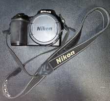 Nikon CoolPix L840 16.0MP Digital Camera w lens black. W strap. Bad Battery.