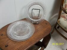 VINTAGE HEAVY LEAD CRYSTAL SALAD PLATES