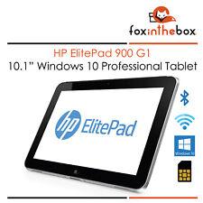 "HP ElitePad 900 G1 10.1"" Tablet PC Win10 32GB SSD 2GB Ram 1.8GHz 3G + bt + Wifi"