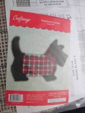 Sweatered Scottie Dog Shaped Latch Hook Rug Kit 27x20 Inches-Craftways