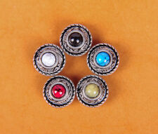 5X 12Mm 5 Colors Turquoise Vintage Sliver Bridle Decor Conchos Rivet Screwback