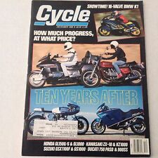 Cycle Magazine BMW K1 Honda GL1500 December 1988 061417nonrh