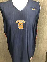 Syracuse Orange NCAA Men's Sleeveless Emb Athletic Shirt Nike Fit Dry M EUC